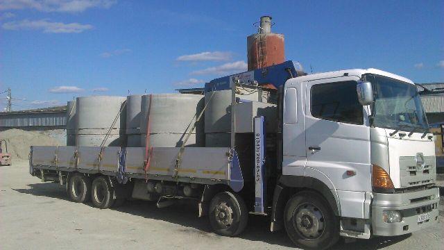 Кольца бетонные с доставкой и установкой манипуляторами. Екатеринбург