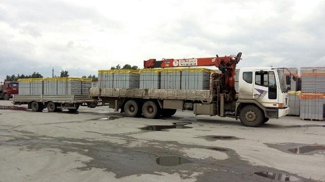 Твинблок с доставкой и разгрузкой манипуляторами 5, 8, 15 и 20 тонн. Екатеринбург