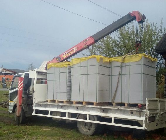 Твинблок Березовский (Теплит). Манипулятор 20 тонн на 24 поддона
